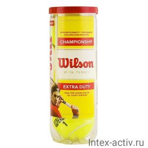 Мяч теннисный WILSON Championship арт. WRT110000 4шт.