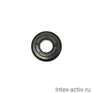Диск обрезиненный черный MB Barbell d-51 1.25 кг