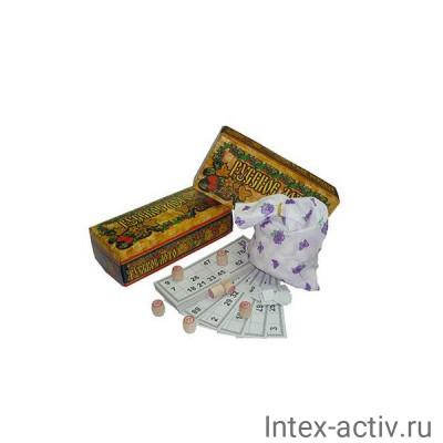 """""""Русское лото"""" в коричневой картонной коробке 180-18"""