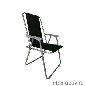 Кресло складное с подлокотниками RK-0134, черный