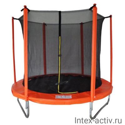 Батут SportElite MZ-8FT-O (2,44м) с защитной сеткой внутрь, оранжевый