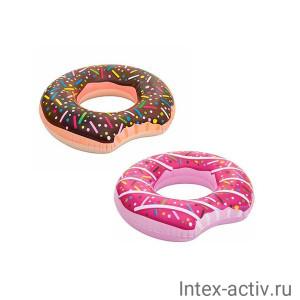 Круг для плавания BestWay 36118 Donut Пончик 107см 2 цвета, 12+