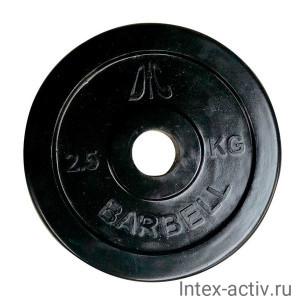Диск обрезиненный чёрный DFC WP021 d-31 мм 2,5 кг