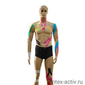 Кинезиологическая лента (спина, талия) Lite Weights 1213LW