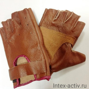 Перчатки для фитнеса натуральная кожа