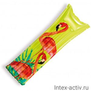 "Матрас надувной Intex 59720 ""Фламинго"" (183х69см)"