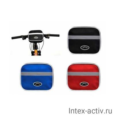 Велосумка на руль горизонтальная (черный/красный) ВС13-02