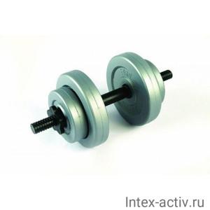 Гантель (1 шт) 6 кг в оболочке сборная Россия