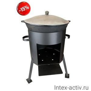 Казан чугунный 10л + печь (комплект)