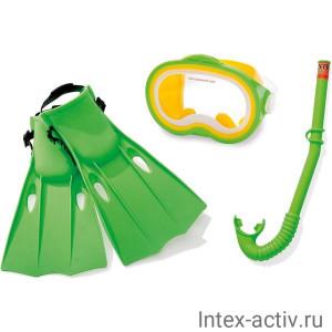 Набор для плавания Intex 55955 Master Class Swim Set (ласты р.38-40, маска и трубка)