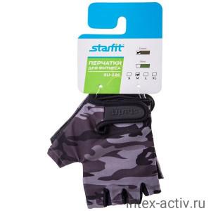 Перчатки для фитнеса StarFit SU-126 серый р.M