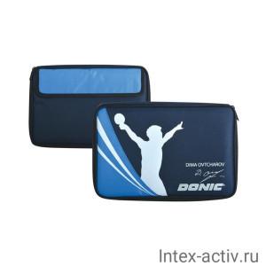 Чехол для ракетки для настольного тенниса Donic Ovtcharov Cover (синий)