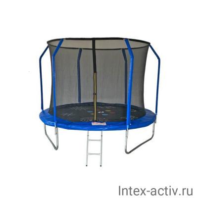 Батут SportElite GAME FR-50 10FT (3.05м) с защитной сеткой внутрь, лестницей