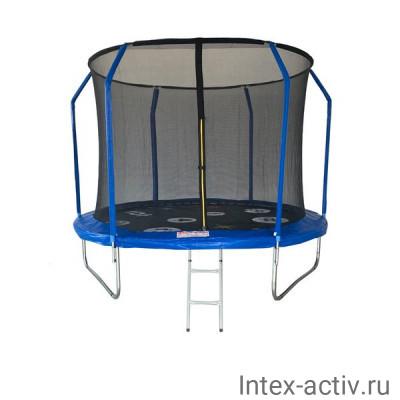 Батут SportElite PLAY FR-80 10FT (3,05м) защитной сеткой внутрь, лестницей