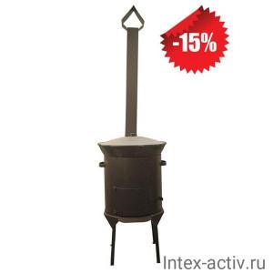 Казан чугунный 8 л + Печь с трубой (комплект)