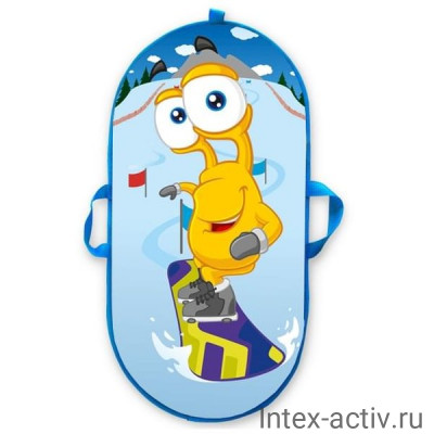 """Санки-ледянки № 62 """"Сноубордист"""" овальные 60*35см"""