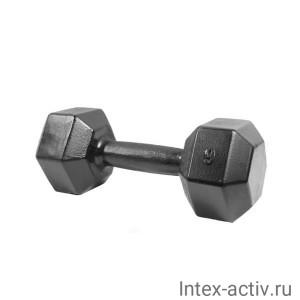 Гантель (1 шт) гексагональная литая Shigir 9 кг