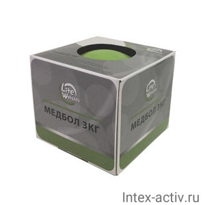 Медбол Lite Weights 1703LW 3 кг (салатовый)