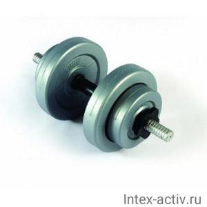 Гантель (1 шт) 7 кг в оболочке сборная Россия