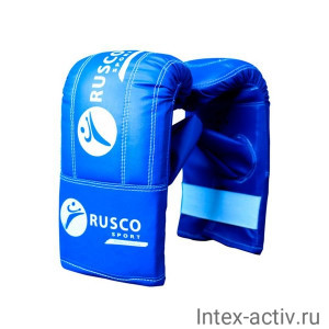 Перчатки снарядные Rusco, кожзам, синий р.L