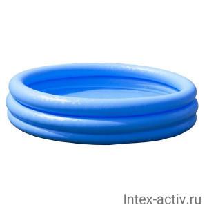 """Надувной бассейн для детей Intex 59416NP """"Crystal Blue Pool"""" 114х25см, 2+"""