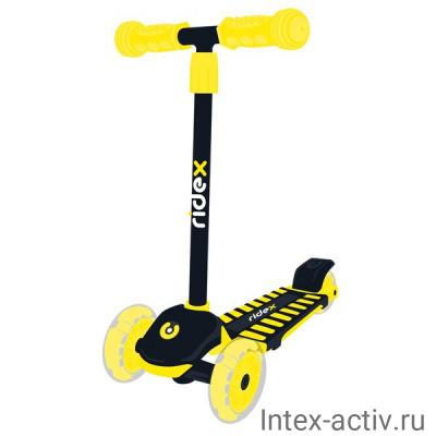 Самокат 3-колесный Ridex Spike 3D 120/100 мм, желтый