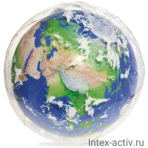 Мяч надувной с подсветкой Bestway 31045 Земля, 61 см