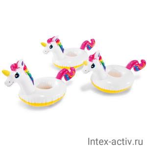 """Надувные держатели для напитков Intex 57506 Unicorn Drink Holder """"Единорог"""" 3 шт"""