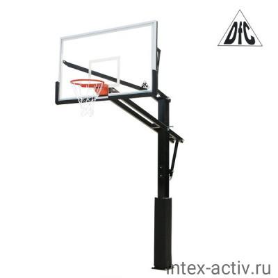 Баскетбольная стационарная стойка DFC ING72GU 180х105см