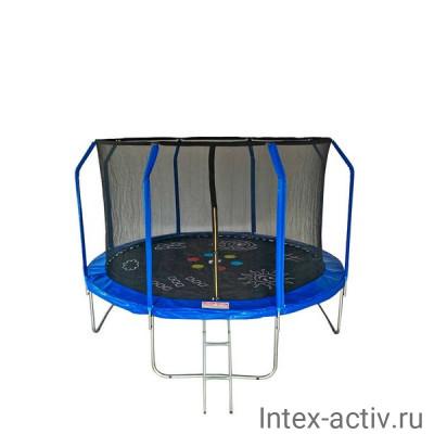 Батут SportElite GAME FR-50 12FT (3.66м) с защитной сеткой внутрь, лестницей