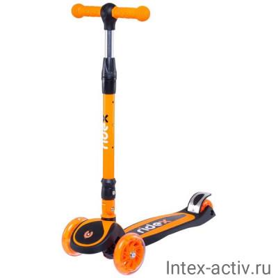 Самокат 3-колесный Ridex 3D Tiny Tot 120/80 мм, оранжевый
