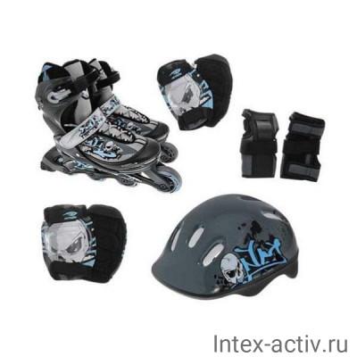 Роликовые коньки Action PW-117C + защита, шлем р.34-37