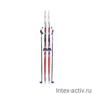Лыжный комплект Sable (лыжи+палки+крепл.75 мм) STEP длина 140