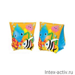 "Нарукавник INTEX 58652 ""Рыбки"" 23х15см, 3+"