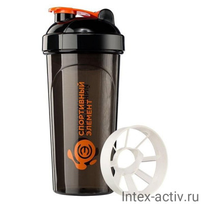 Спортивный шейкер Турмалин S02-700 оранжево-черный
