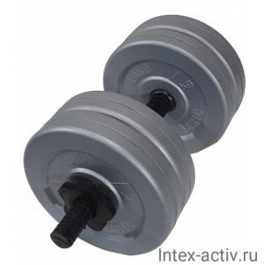 Гантель (1 шт) 8 кг в оболочке сборная Россия
