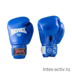 Перчатки боксерские Reyvel RV-101 10 унций к/з синие