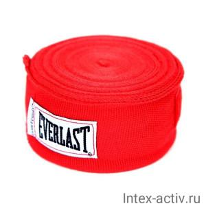 Бинт боксерский Everlast 4465RD 2.5 м красный
