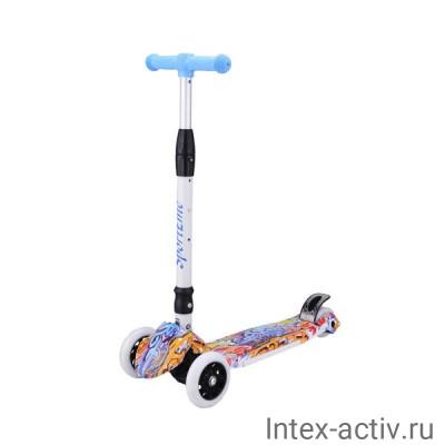 Самокат 4-х колесный SportElite SE400 граффити