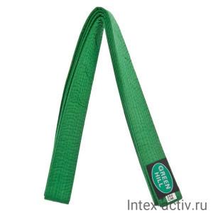 Пояс для карате зеленый Green Hill KBO-1014 (зеленый р.280)