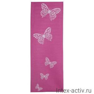Коврик для йоги и фитнеса YL-Sports BB8301 (173*61*0,4см) с принтом, розовый