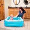 Бассейн детский с надувным дном BestWay 51116 (86х86х25см) 0-3года