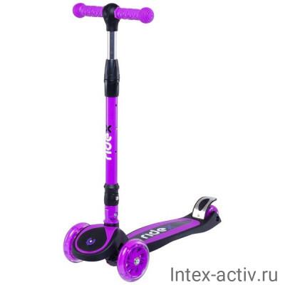 Самокат 3-колесный Ridex 3D Tiny Tot 120/80 мм, фиолетовый
