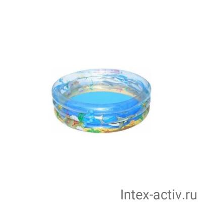 """Бассейн Bestway 51048 надувной круглый, 170*53см """"Морская жизнь"""""""