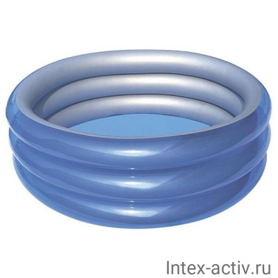 "Бассейн надувной круглый Bestway 51042 ""Металлик"" 170х53 см"