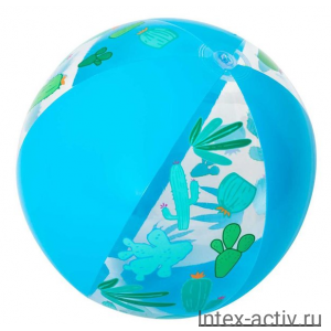 Мяч пляжный дизайнерский Bestway 31036 51 см синий