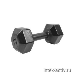 Гантель (1 шт) гексагональная литая Shigir 10 кг