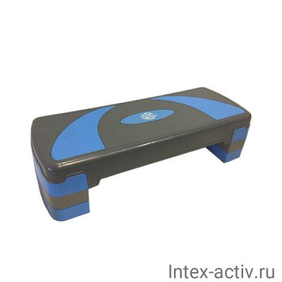 Степ-платформа 3-х уровневая Lite Weights 1810LW (79,5*30*20см) серый/голубой