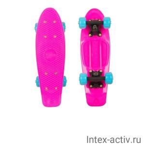 Круизер пластиковый Ridex Princess 17''x5'' Abec-7 Carbon