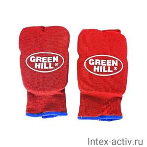 Накладки на кисть Green Hill Эластик HP-6133 красный р.S
